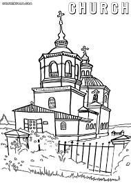 coloring pages church 28 images drawing church coloring pages