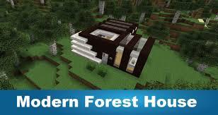 minecraft modern forest house youtube