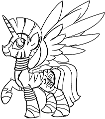 safe alicorn zecora simple coloring pages wecoloringpage
