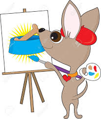 An Artistic Chihuahua Wearing A Red Beret And Collar Is Holding