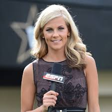 news anchor in la short blonde hair samantha ponder samantha ponder commentator college reporter