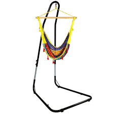 sunnydaze mayan chair hammock with adjustable stand