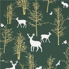 green fabric white animal gold metallic tree by michael