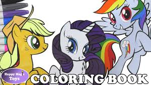 mlp coloring book compilation rainbow dash rarity applejack my
