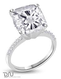 5 carat engagement ring 5 carat f vs2 cushion solitaire diamond engagement ring set in 14