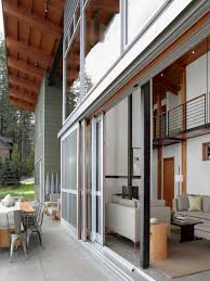 House With High Ceilings Sliding Exterior Full Glass Doors For Large Modern House Design