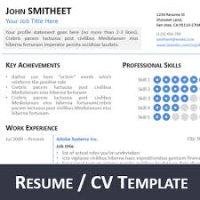 Powerpoint Resume Template 1page Resume Cv Powerpoint