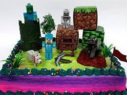 minecraft cake topper 14 birthday cake topper set featuring random minecraft