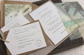 Wedding Pocket Invitations Rustic Palm Tree Wedding Invitation Printed Pocket Fold