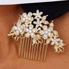 wedding hair comb rhinestone bridal hair comb gold wedding hair accessories tyale