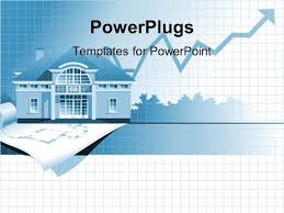 Powerpoint Real Estate Templates by Powerpoint Template Home Values Rising Line Graph Chart House