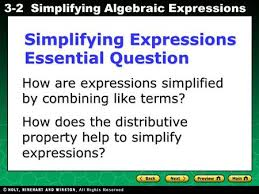 the distributive property u0026 combining like terms ppt video