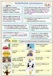 indefinite pronouns worksheet by chocobennfisa
