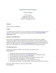 Job Resume Communication Skills 911 by Download Dispatcher Resume Haadyaooverbayresort Com