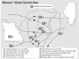 St Louis Mo Map Low Income Senior Housing Lutheran Senior Services