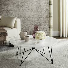 mid century round coffee table safavieh mid century modern maris lacquer white black coffee table