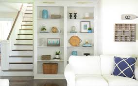 Decorating Built Ins   celebrate summer home tour bookcase styling built ins and