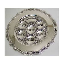 pesach plate up of pesach seder items for kids and adults