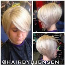 stacked bobs for curly fine hair stacked and layered bob hairstyle in blonde long pixie or short