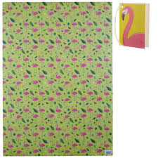 tropical wrapping paper tropical flamingo pineapple wrapping paper 17228 puckator ltd