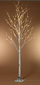 8 foot led lighted birch tree warm white front porches porch
