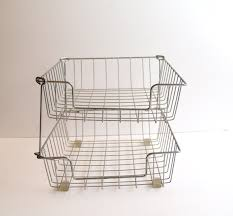Stackable Wire Shelves by Stackable Wire Baskets U2013 Best Basket 2017