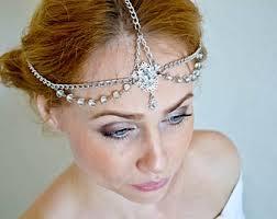 headpiece jewelry gatsby headpiece etsy