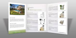 upmarket modern brochure design for interior divine property
