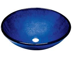 644 blue glass sink 1 2in thick bowl foil undertone glass