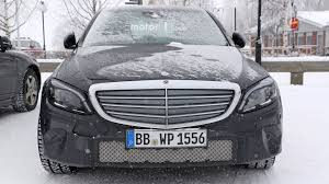 2018 mercedes c class spotted with production headlights taillights