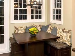 traditional kitchen corner bench seating with storage decorating