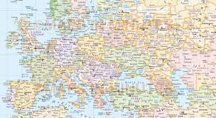 Europe Map Political by Digital Vector Political World Map With Relief Terrain For Land