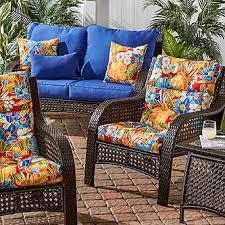 Red Patio Chair Cushions Greendale Home Fashions Outdoor High Back Patio Chair Cushion