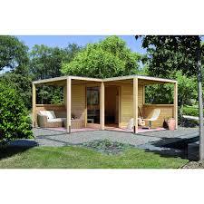 Garden Haus Kaufen Holz Gartenhaus Bryggen Eck Natur 320 Cm X 320 Cm Kaufen Bei Obi