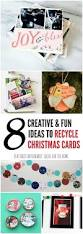 recycle christmas cards 8 fun craft and decor ideas