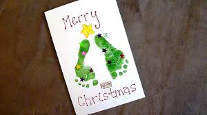 baby footprint ideas baby craft easy footprint christmas cards