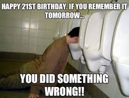 Happy 21 Birthday Meme - happy 21st birthday memes wishesgreeting
