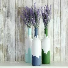 Diy Wine Bottle Vases Wine Bottle Crafts The Crazy Craft Lady