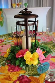 luau table centerpieces best 25 luau wedding ideas on tropical centerpieces