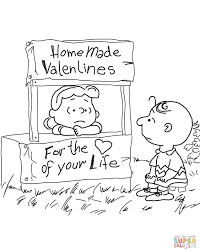 peanuts valentine u0027s day coloring page free printable coloring pages