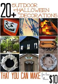 Cheap Yard Decorations 20 Outdoor Halloween Decorations That You Can Make For Less Than