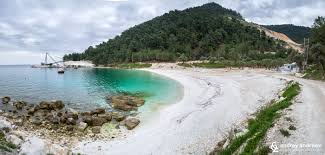 the beauty of thassos island in april northern greece