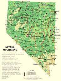 map of nevada nevada prominence map gif