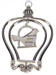 birdcage ornament car charm spread your wings er28204 6 99
