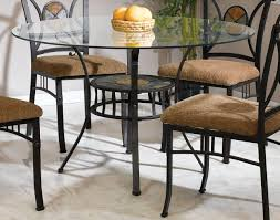 top metal base contemporary dinette w slate inlays