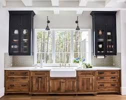 wood tone kitchen cabinets 2018 trend update two toned kitchens becki owens