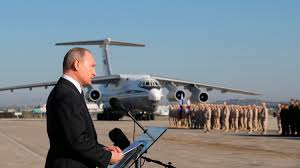 putin s plane us wary of putin u0027s declaration of military victory in syria al