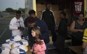 free thanksgiving turkey give away hundreds receive free turkey at annual ymca giveaway in manatee