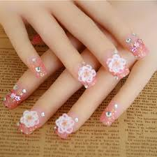 summer style crystal fake nails in false nails high quality