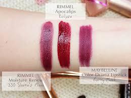 Pretty Color Names Rimmel Moisture Renew Lipstick 330 Sloane U0027s Plum Mateja U0027s Beauty